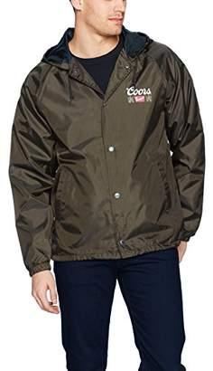 Brixton Men's Coors Primary Hooded Windbreaker Jacket