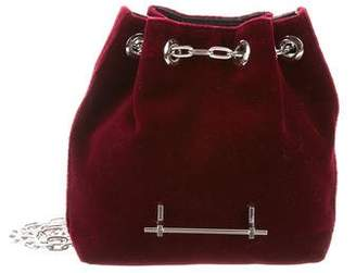 M2Malletier Velvet Mini Bucket Bag