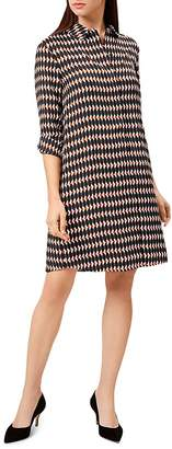 Hobbs London Marci Geometric Print Shirt Dress