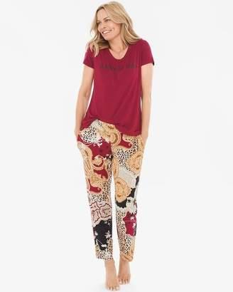 Chico's Soma For Mixed Animal-Print Pajama Set