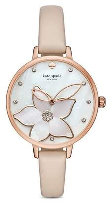 Kate Spade Leather Metro Watch, 34mm