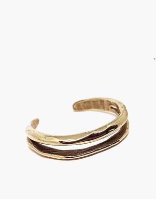 Madewell SLANTT Frida Double Cuff Bracelet