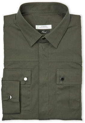 Versace Hardware Epaulet Military Shirt