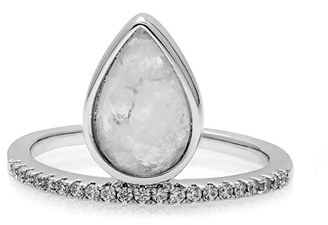 Women's Melanie Auld Teardrop Stacking Ring $95 thestylecure.com