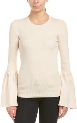 BCBGMAXAZRIA Bell-Sleeve Wool-Blend Sweater
