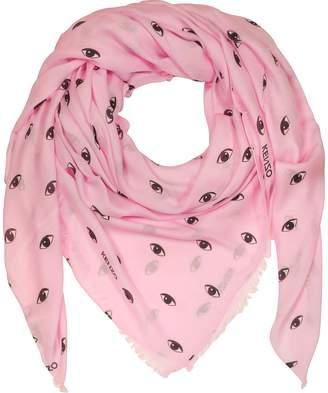 Kenzo Pink Modal and Silk Printed Eye Wrap