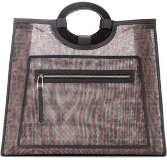 Fendi Runaway leather-trimmed tote