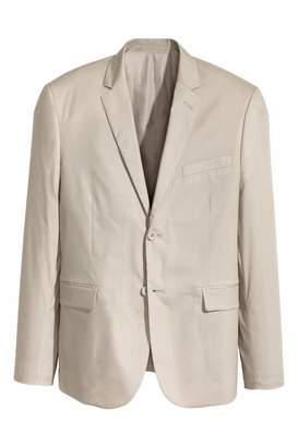 H&M Cotton-blend Blazer Slim fit - Light beige - Men