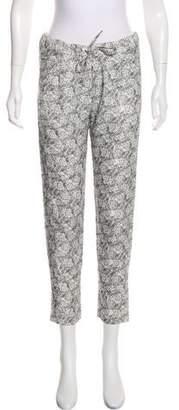 The Kooples Printed Mid-Rise Straight-Leg Pants