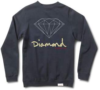 Diamond Supply Co. Men's OG Sign Crewneck Sweatshirt Blue 4XL