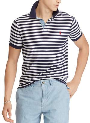 Polo Ralph Lauren Polo Striped Jersey Classic Fit Polo Shirt