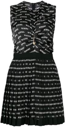 Versus mirror print cut-out dress