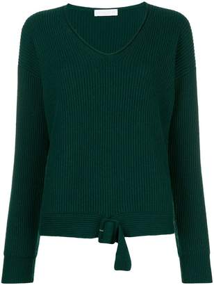 Fabiana Filippi buckle trim ribbed sweater