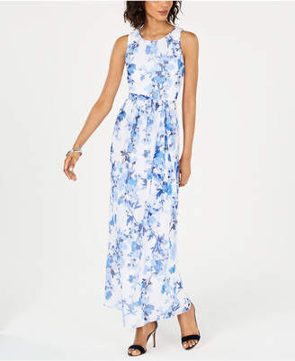 b11c9f46db47 Jessica Howard Petite Floral-Print Maxi Dress