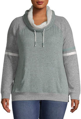 INSPIRED HEARTS Funnel Neck Sweatshirt - Juniors Plus