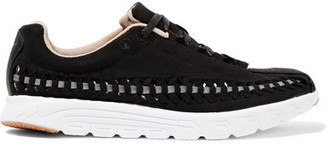 Nike - Mayfly Open-weave Suede Sneakers - Black $120 thestylecure.com