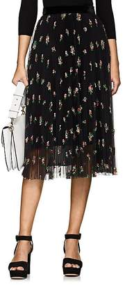 Philosophy di Lorenzo Serafini Women's Embroidered Plissé Tulle Skirt