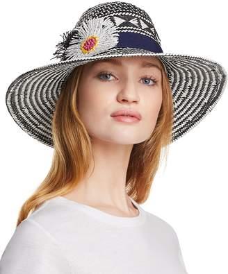 Echo Wow Appliqued Panama Hat