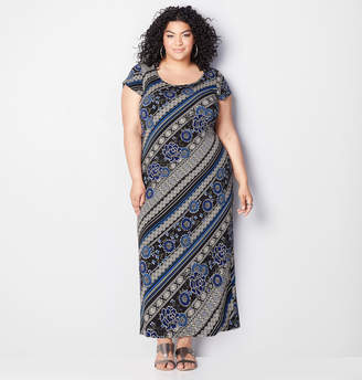 Avenue Diagonal Biadere Maxi Dress
