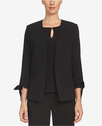CeCe Open-Front Tie-Sleeve Blazer