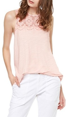 Women's Sanctuary Estee Crochet Yoke Tank $59 thestylecure.com