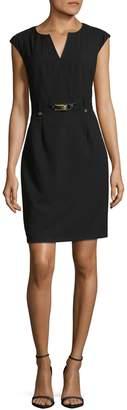 Calvin Klein Glamorous Belted Sheath Dress