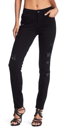 Seven7 Stone & Lace Embellished Skinny Jeans