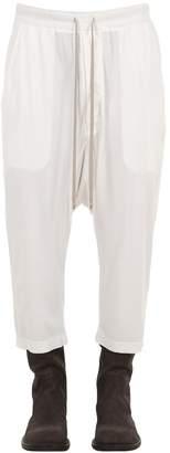 Rick Owens Cropped Light Cotton Jersey Sweatpants