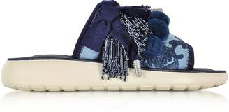 Marc Jacobs Emerson Pompom Denim Sport Sandal