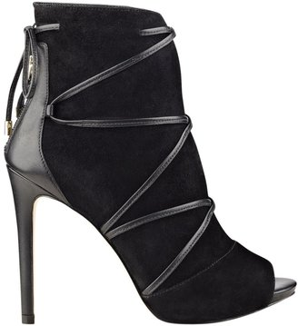 GUESS Ayana Peep-Toe Booties $139 thestylecure.com