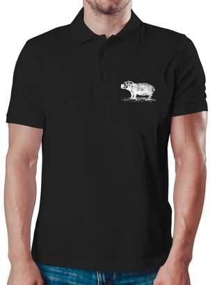 Eddany River Hippopotamus sketch Polo Shirt