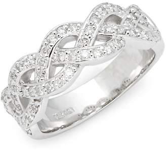 Saks Fifth Avenue Women's White Gold & Diamond Criss-Cross Ring