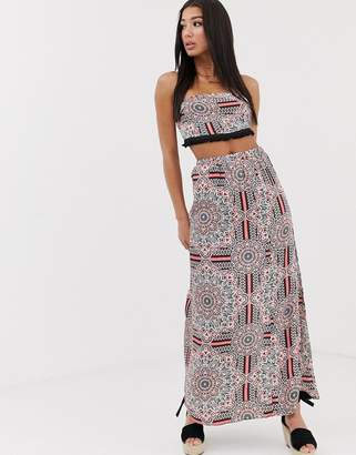 Missguided co-ord maxi skirt in paisley print