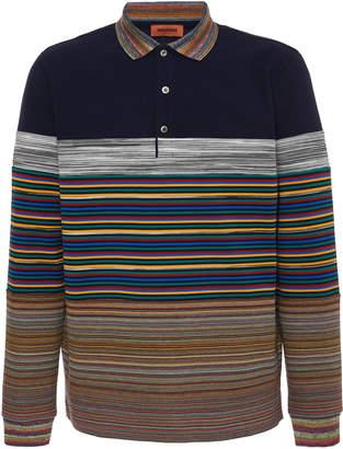 Missoni Striped Cotton-Piqué Polo Shirt Size: L