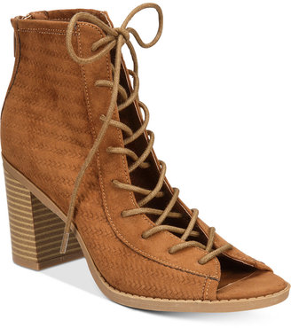 American Rag Sidni Lace-Up Booties, Only at Macy's Women's Shoes $69.50 thestylecure.com