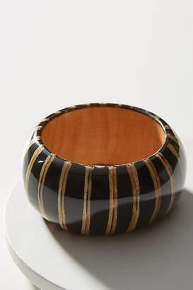 Anthropologie Striped Wooden Bangle Bracelet