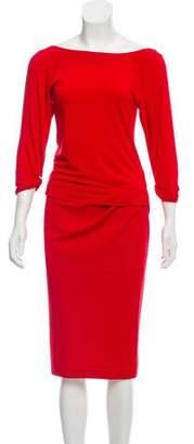 Donna Karan Short Sleeve Skirt Set