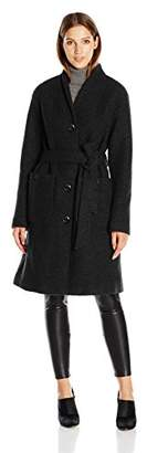 Ellen Tracy Outerwear Women's Boiled Wool Button Front Robe Coat $121.78 thestylecure.com