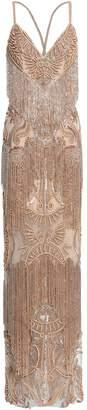 ZUHAIR MURAD Fringed Embellished Silk-blend Tulle Gown