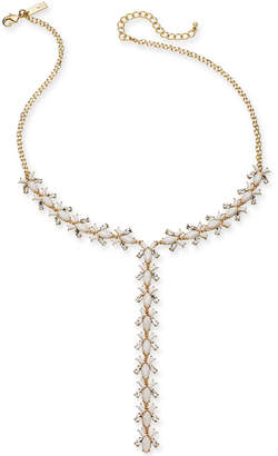 """INC International Concepts I.n.c. Gold-Tone Crystal & Stone Lariat Necklace, 20"""" + 3"""" extender"""