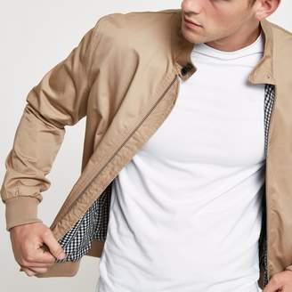 River Island Mens Stone high neck harrington jacket