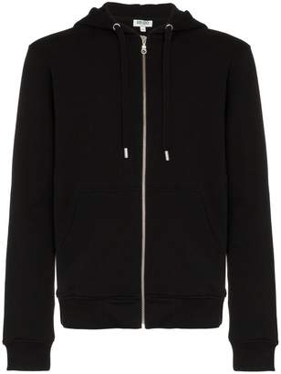 Kenzo zipped logo print hoodie