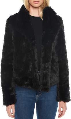Bardot Crop Faux Fur Jacket