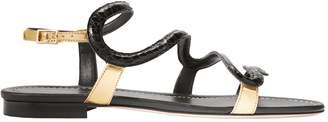 Visconti & Du Réau Manila Serpent Flat Sandals