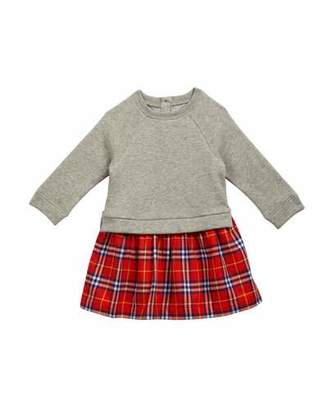 Burberry Francinie Sweatshirt & Plaid Skirt Dress, Size 6M-3