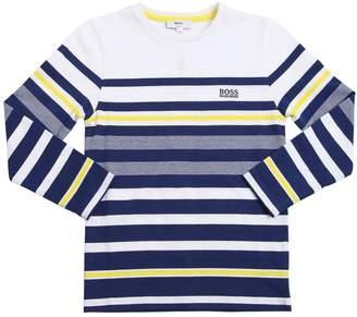 HUGO BOSS Striped Jersey Long Sleeve T-Shirt