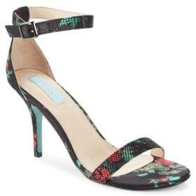 Betsey Johnson Shilo Satin Embellished Dress Sandals