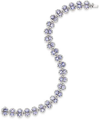 Macy's Tanzanite Tennis Bracelet (10 ct. t.w.) in Sterling Silver, Created for