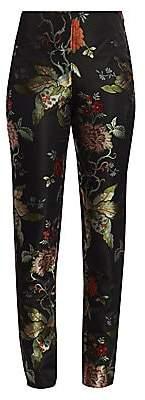 Ahluwalia Women's Botanical Jacquard Satin Pants