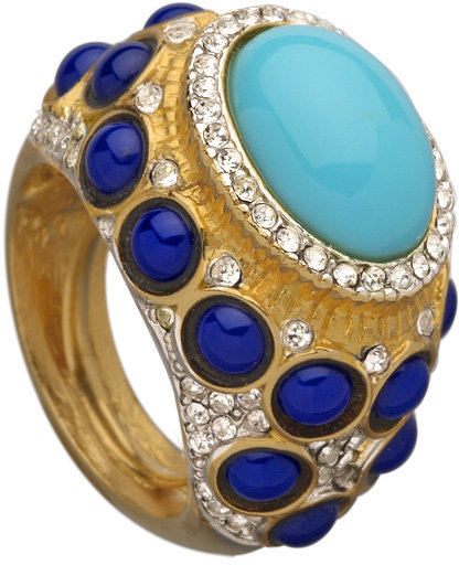 Kenneth Jay Lane Blue Stone Ring